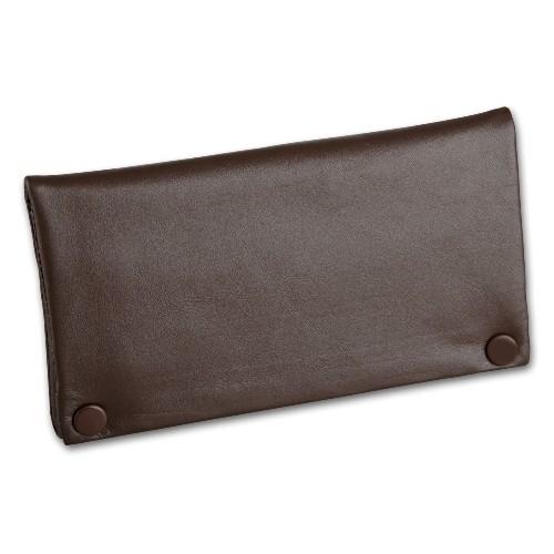 Feinschnitt-Tasche Leder Nappa braun