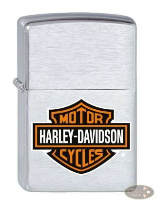 Zippo chrom gebürstet Harley-Davidson Bar & Shield