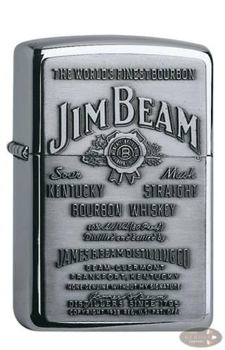 Zippo chrom poliert Jim Beam Emblem