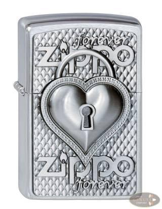 Zippo chrom gebürstet Zippo Heart Forever