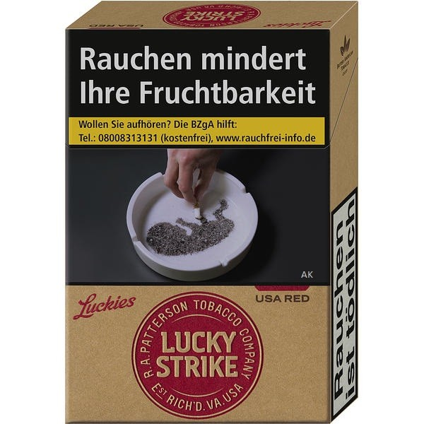 Lucky Strike Straight Red