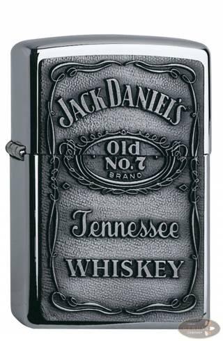 Zippo chrom poliert Jack Daniels No 7 Emblem