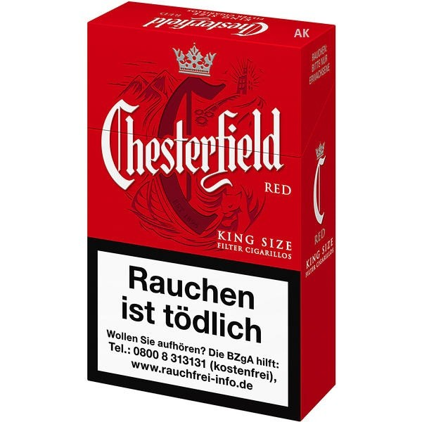 Chesterfield Red King Size