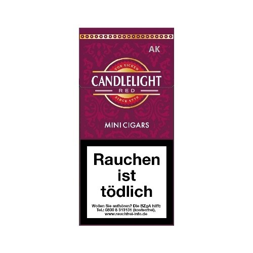 Candlelight Red Filter Cigarillos