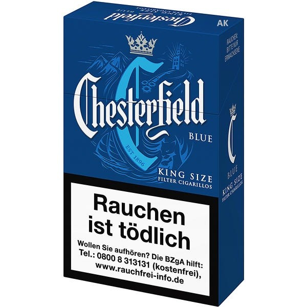 Chesterfield Blue King Size