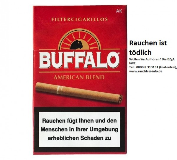 Buffalo Filter Cigarillos Naturdeckblatt