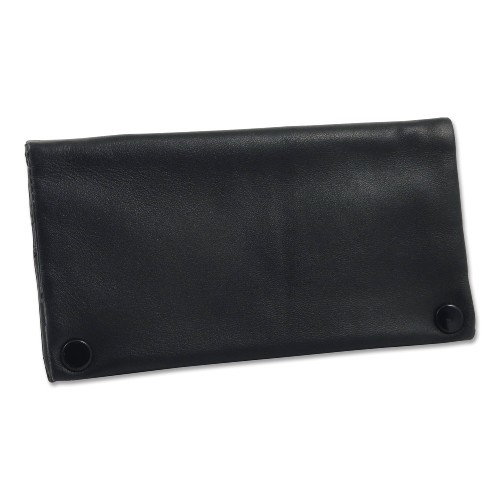 Feinschnitt-Tasche Leder Nappa schwarz