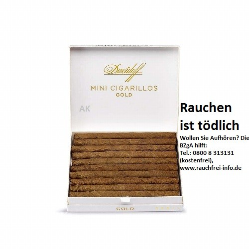 "Davidoff ""Machine-made"" Mini Cigarillos Gold"